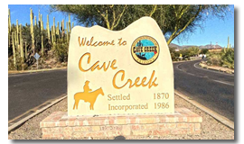 City of Cave Creek, AZ Town Sign