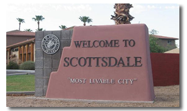 City of Scottsdale, AZ Town Sign